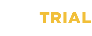 Trial Lawyers Logo with yellow and white text