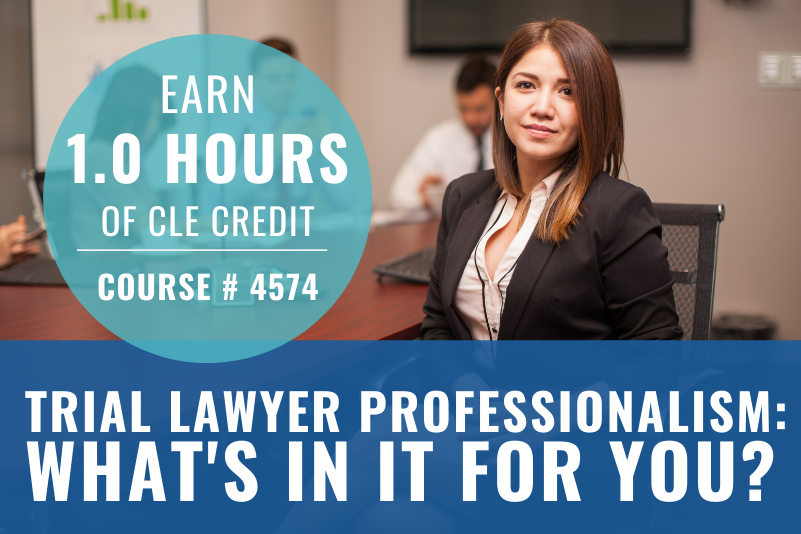 Trial Lawyer Professionalism