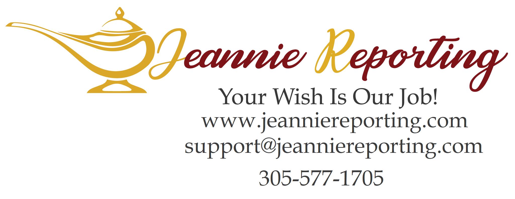 Jeanie Reporting Logo